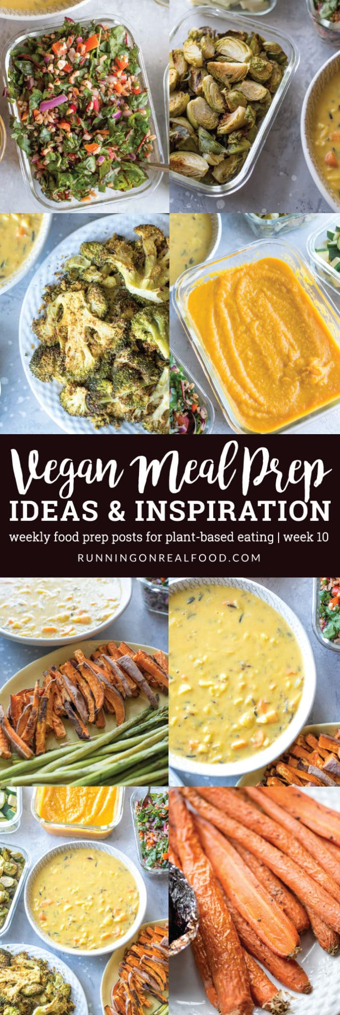 This weeks weekly vegan meal prep included wild rice soup, carrot apple soup, cheesy roasted broccoli and a farro and swiss chard salad plus check out some tips for meal prep breakfasts and vegan snacking.