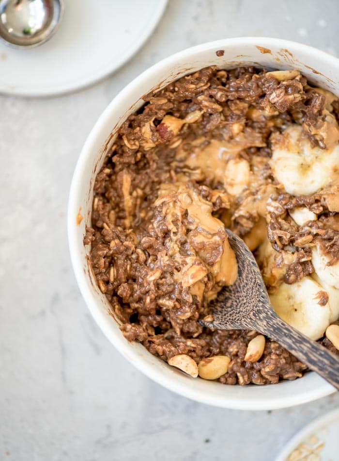 Vegan Peanut Butter Chocolate Oatmeal
