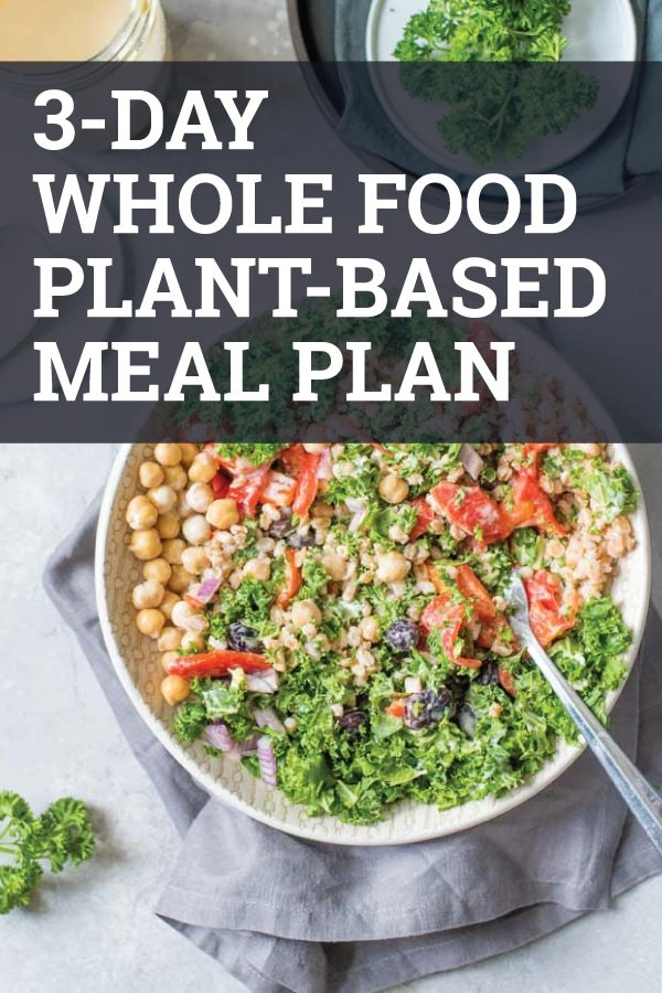 See what 3 full days of plant-based eating looks like in real life. Tons of ideas for plant-based meals, snacks and desserts plus a full 3-day whole food plant-based meal plan. #vegan #veganrecipes #mealplan
