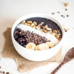 Vegan Blueberry Banana Spinach Smoothie Bowl