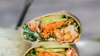 Dinner: Vegan Buffalo Cauliflower Wraps
