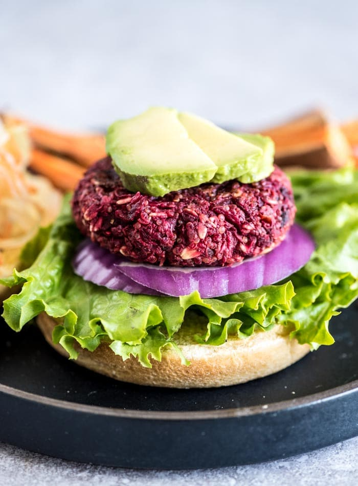 Vegan Quinoa Beet Burgers that are Gluten-Free | Running on Real Food