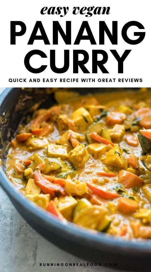 Easy Vegan Panang Curry with Tofu