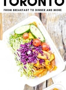 Pinterest graphic for best vegan restaurants in Toronto.