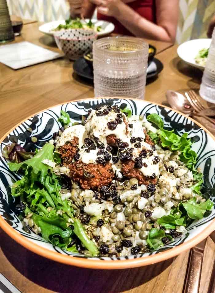 Kale Caesar Salad at Live Organic Food Bar in Toronto.