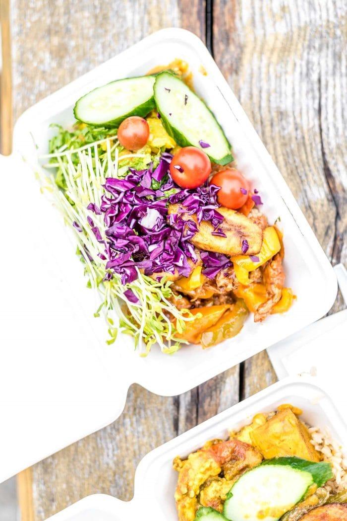 Ital Vital Vegan Food in Kensington Market in Toronto.