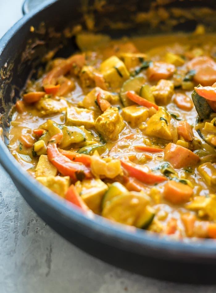 Tofu Panang Curry | Vegan | Running on Real Food