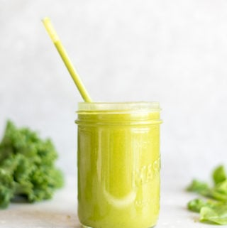 Healthy Kale and Spinach Smoothie - Running on Real Food