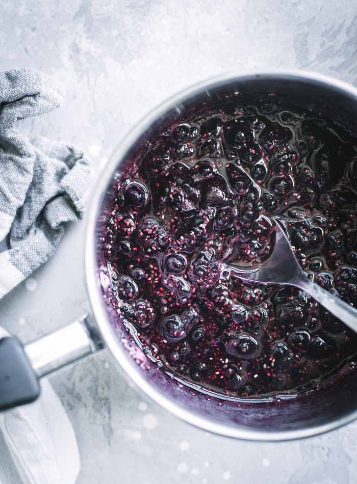 Blueberry Chia Seed Jam - Running on Real Food