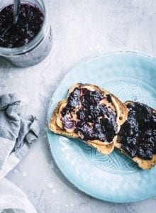 Sugar-Free Blueberry Chia Jam | Running on Real Food