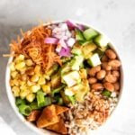 Vegan BBQ Rice and Beans Bowl | Running on Real Food