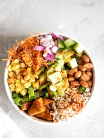 Vegan BBQ Rice and Beans Bowl