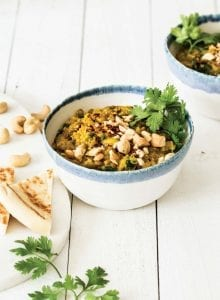 Creamy Vegan Curried Lentils and Quinoa