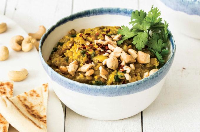 Vegan Curried Lentils and Quinoa