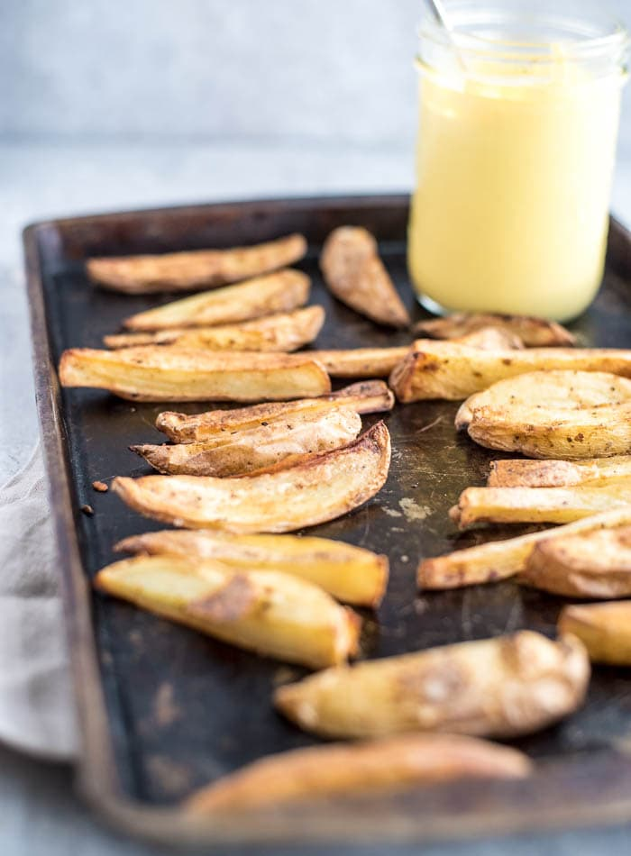 Healthy Oil-Free Baked Fries - Running on Real Food