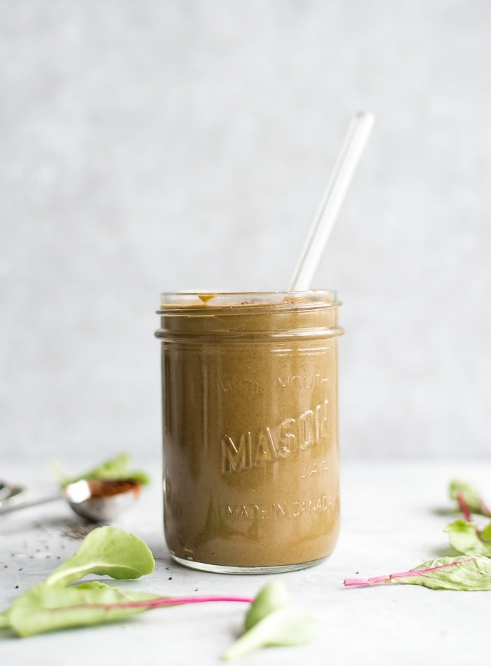 Healthy Vegan Chocolate Banana Smoothie - Running on Real Food