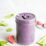 Vegan Mixed Berry Smoothie with Almond Butter - Running on Real Food
