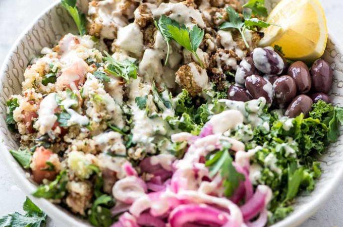 Cauliflower Quinoa Tabouli Bowls