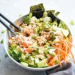 Sushi Bowls with Spicy Mayo Sauce - Running on Real Food