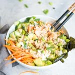 Sushi Bowl with Vegan Spicy Mayo - Running on Real Food