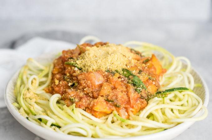 Vegetable Lentil Zucchini Noodles