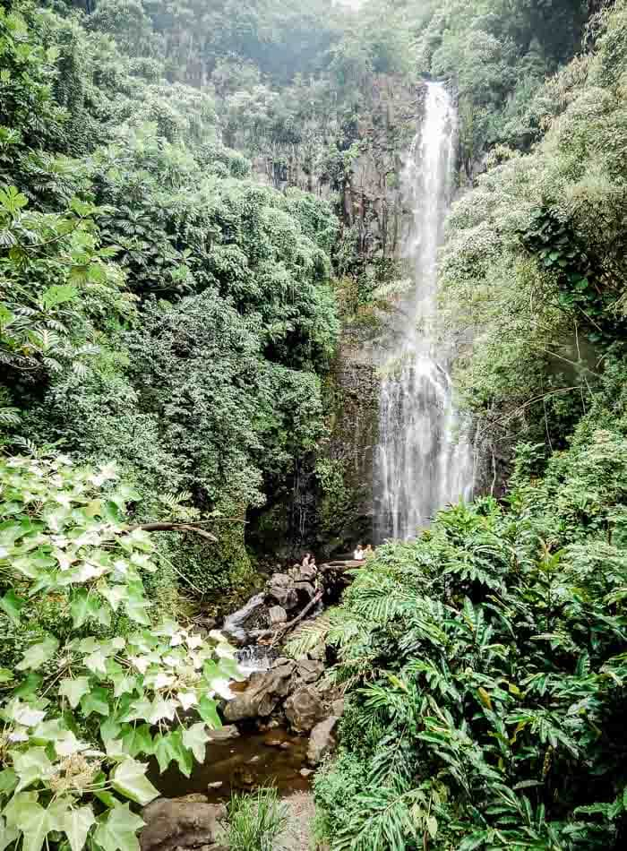 Wailua Falls on the Road to Hana in Maui - Running on Real Food