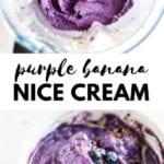 Purple Banana Nice Cream