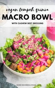 Vegan Tempeh Quinoa Macro Bowl