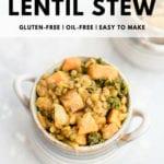 Sweet Potato Lentil Kale Stew