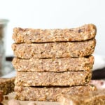 Vegan No-Bake Oatmeal Bars - Running on Real Food