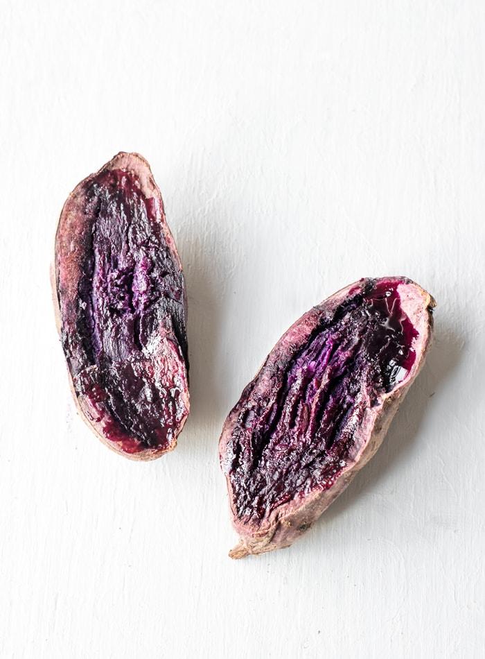 Vegan Purple Yam Smoothie Bowl - Running on Real Food
