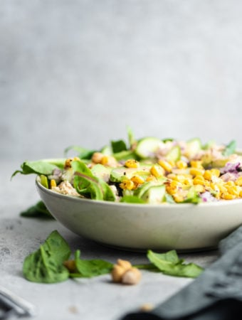 Vegan Avocado Corn Salad - Running on Real Food