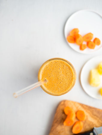 Healthy Vegan Carrot Cake Smoothie - Running on Real Food
