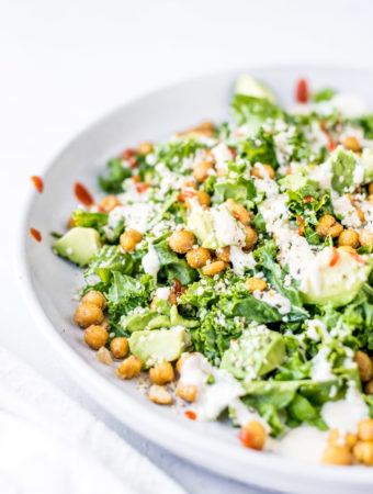 Roasted Chickpea Avocado Salad