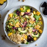 Roasted Beet Avocado Salad with Quinoa - Running on Real Food