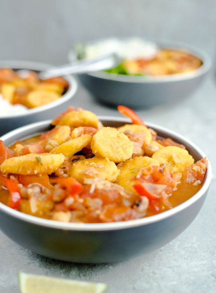 Healthy Vegan Plantain Curry Recipe - Running on Real Food