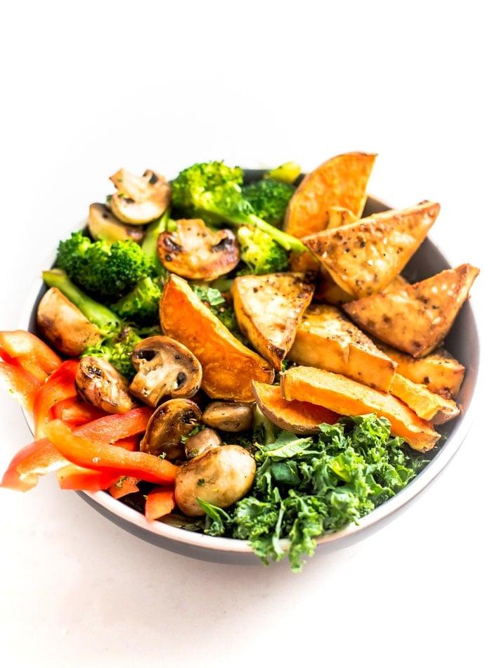 Healthy Vegan Tofu and Sweet Potato Bowls - Running on Real Food