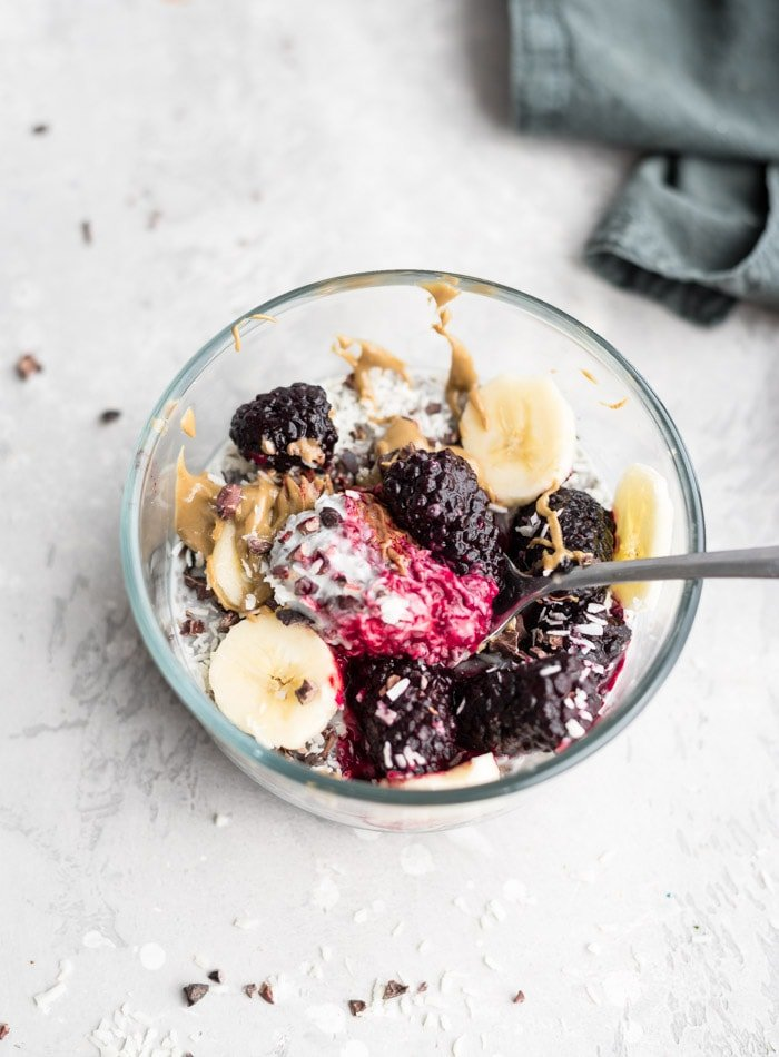 Vegan Chia Seed Pudding with Coconut Yogurt - Running on Real Food