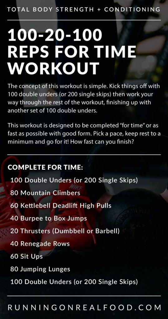100-20-100 Reps For Time Workout - Running on Real Food