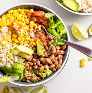 Easy Vegan Brown Rice Burrito Bowl
