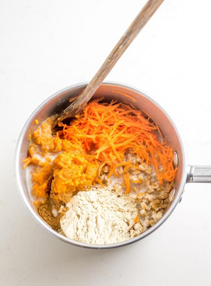 Breakfast Farro Recipe Ingredients - Running on Real Food
