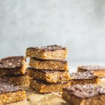 Vegan No-Bake Cashew Tahini Bars with Chocolate - Running on Real Food