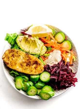 Vegan Avocado and Roasted Potato Buddha Bowls - Running on Real Food