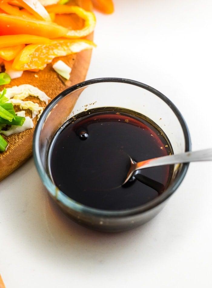Simple Stir Fry Sauce for Vegan Stir Fry - Running on Real Food