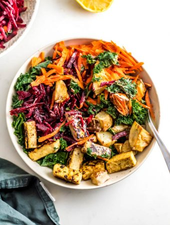 Beet and Carrot Kale Salad with Roasted Potatoes