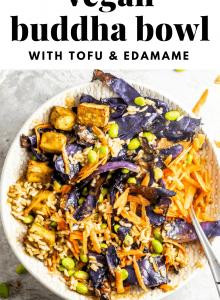 Vegan Buddha Bowls with Tofu and Edamame