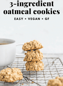 Easy Vegan Oatmeal Cookies