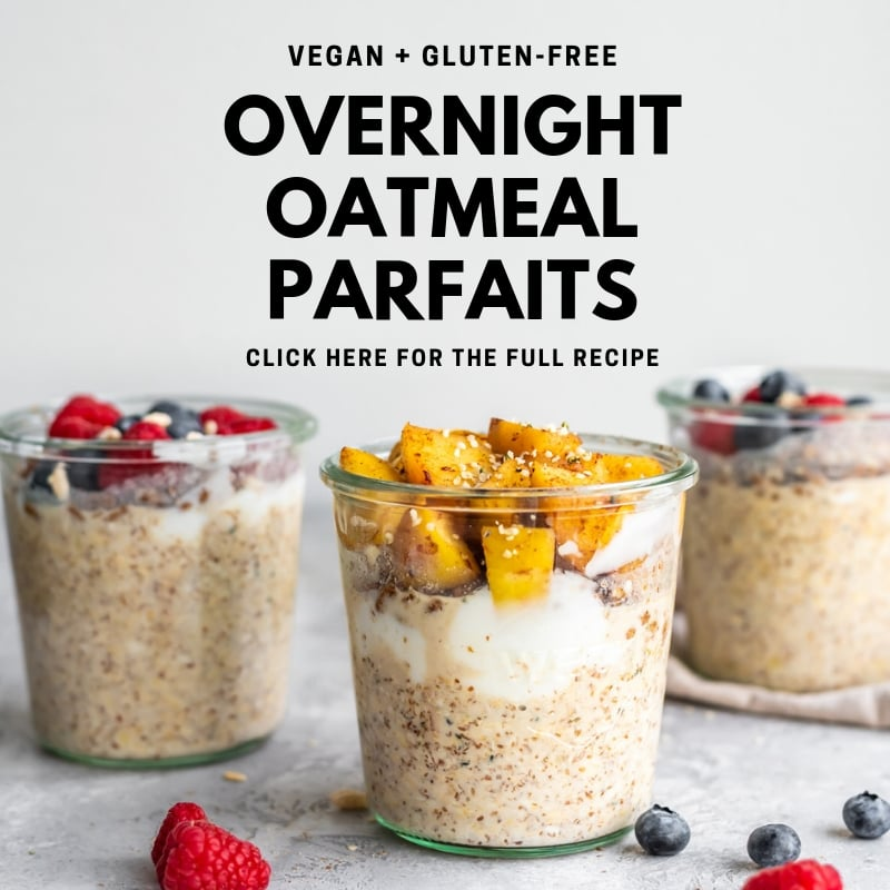 Overnight Oatmeal Parfaits - Running on Real Food