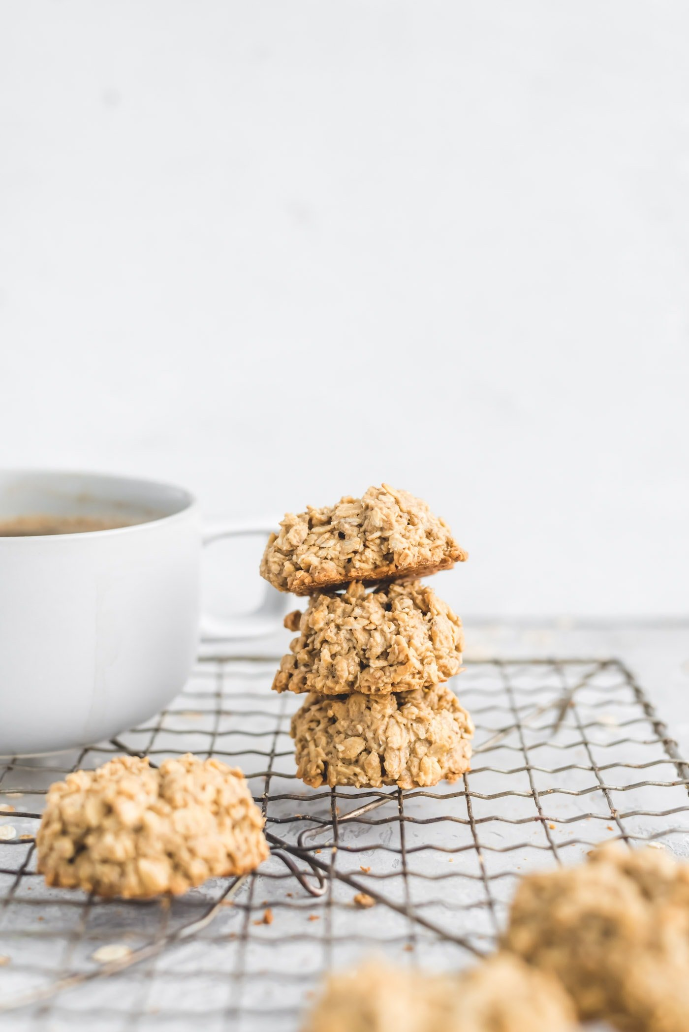 Healthy Easy Vegan 3-Ingredient Oatmeal Cookies Recipe - Running on Real Food