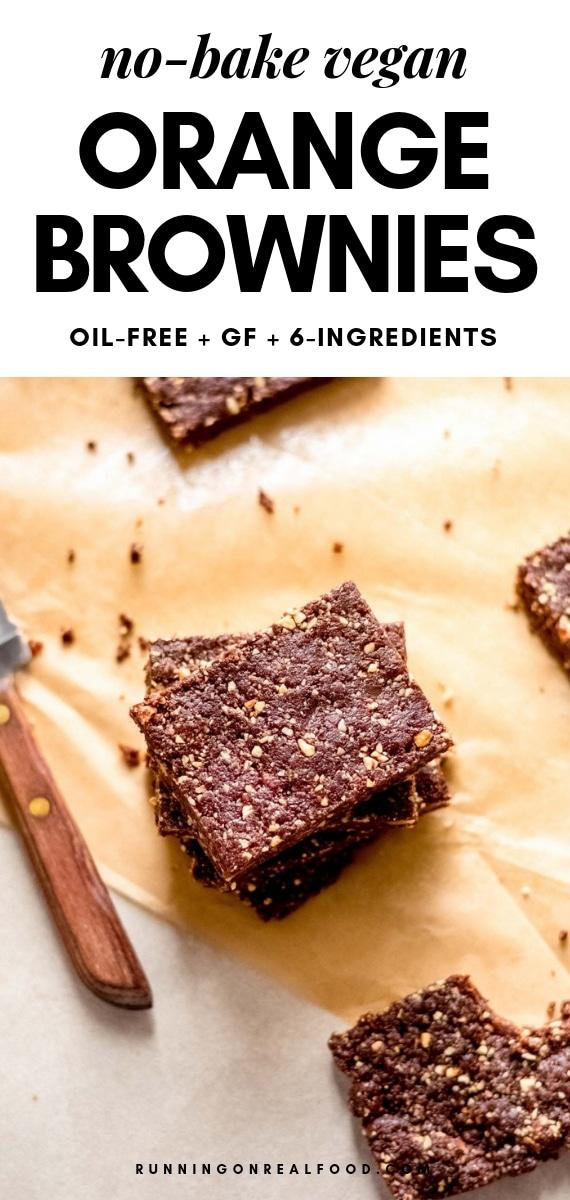No-bake Vegan Chocolate Orange Browines